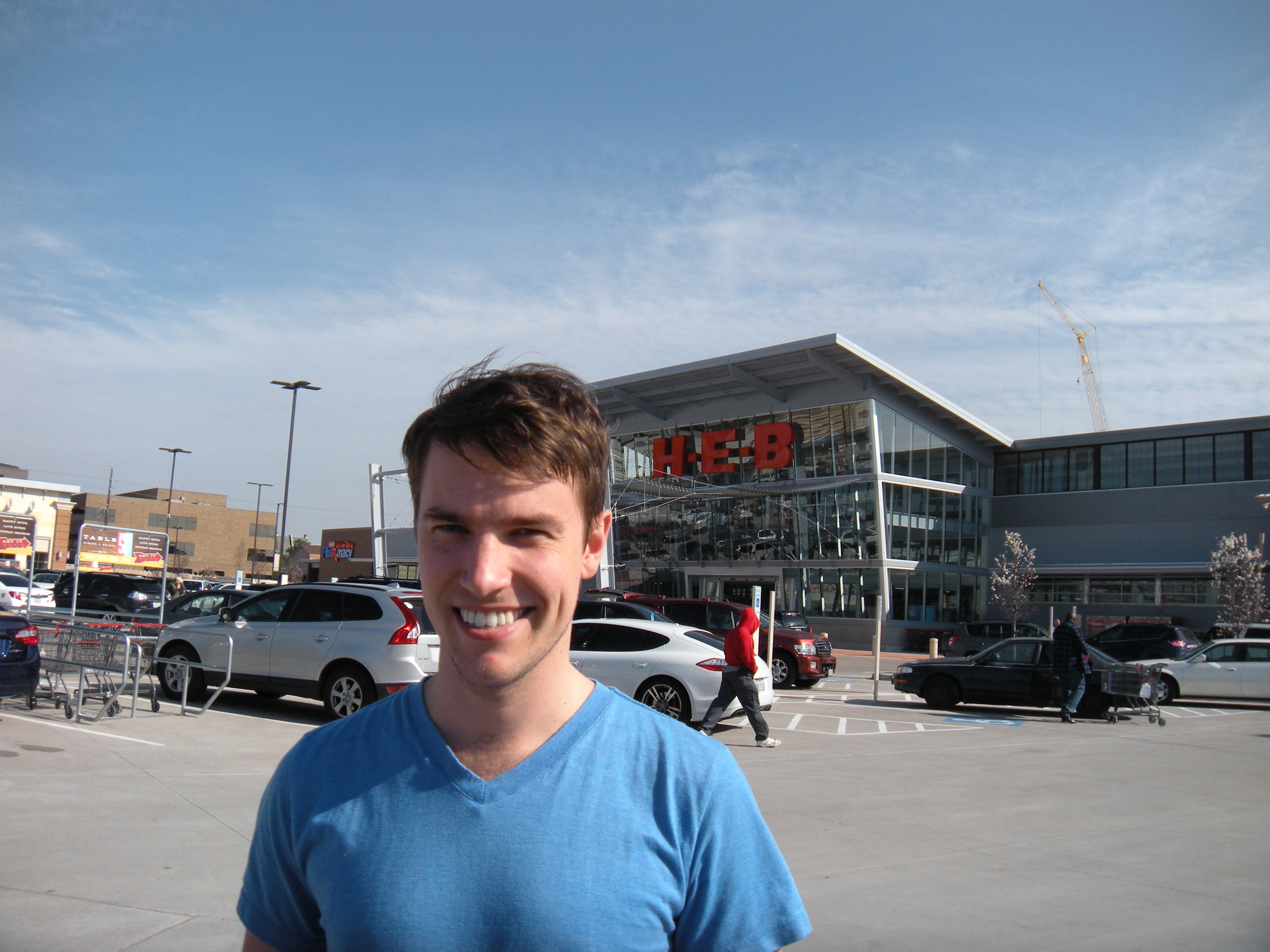 Sam at the new HEB.
