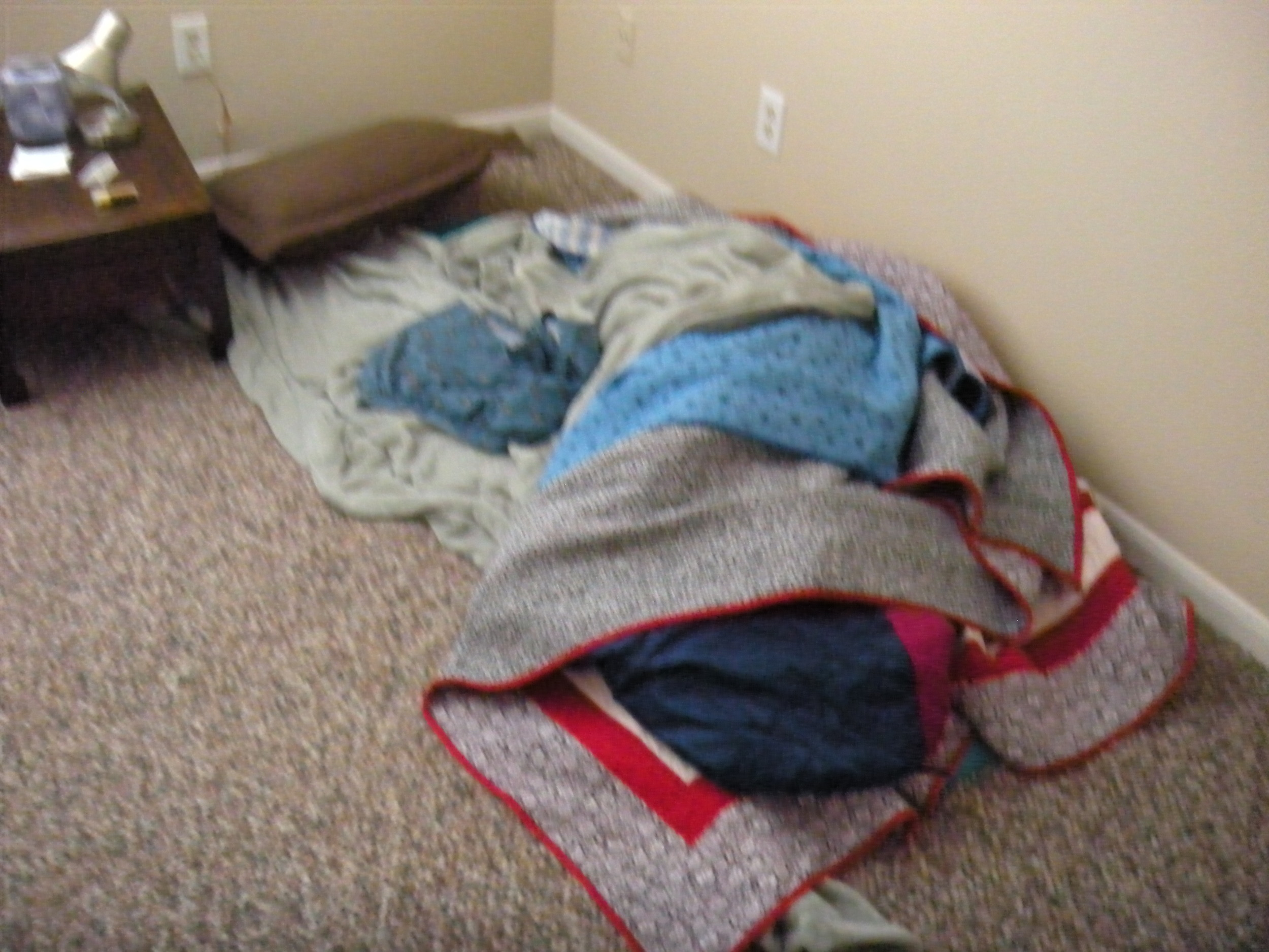 I felt bad that this is where Sam had to sleep for two weeks--but probably not as bad as Sam.