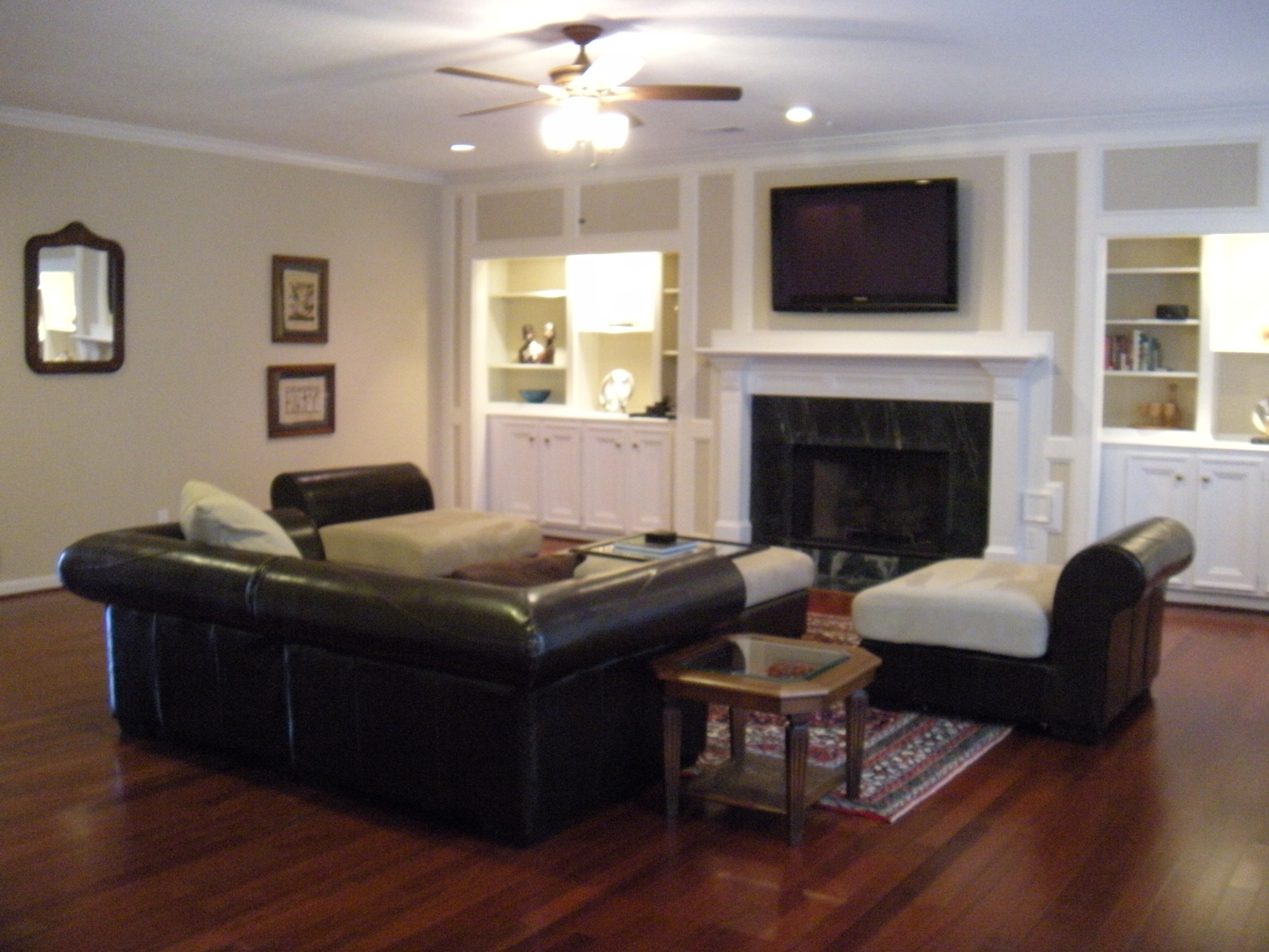 Doesn't our living room look huge with the desk and chests gone?