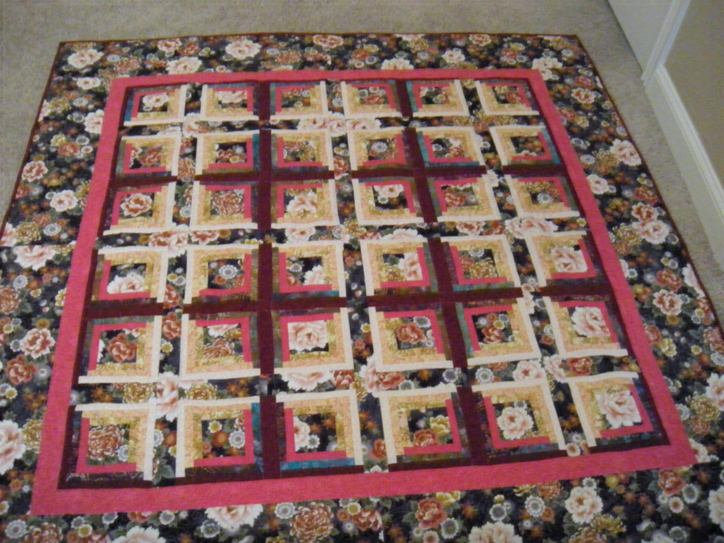 This is the quilt I recently finished.