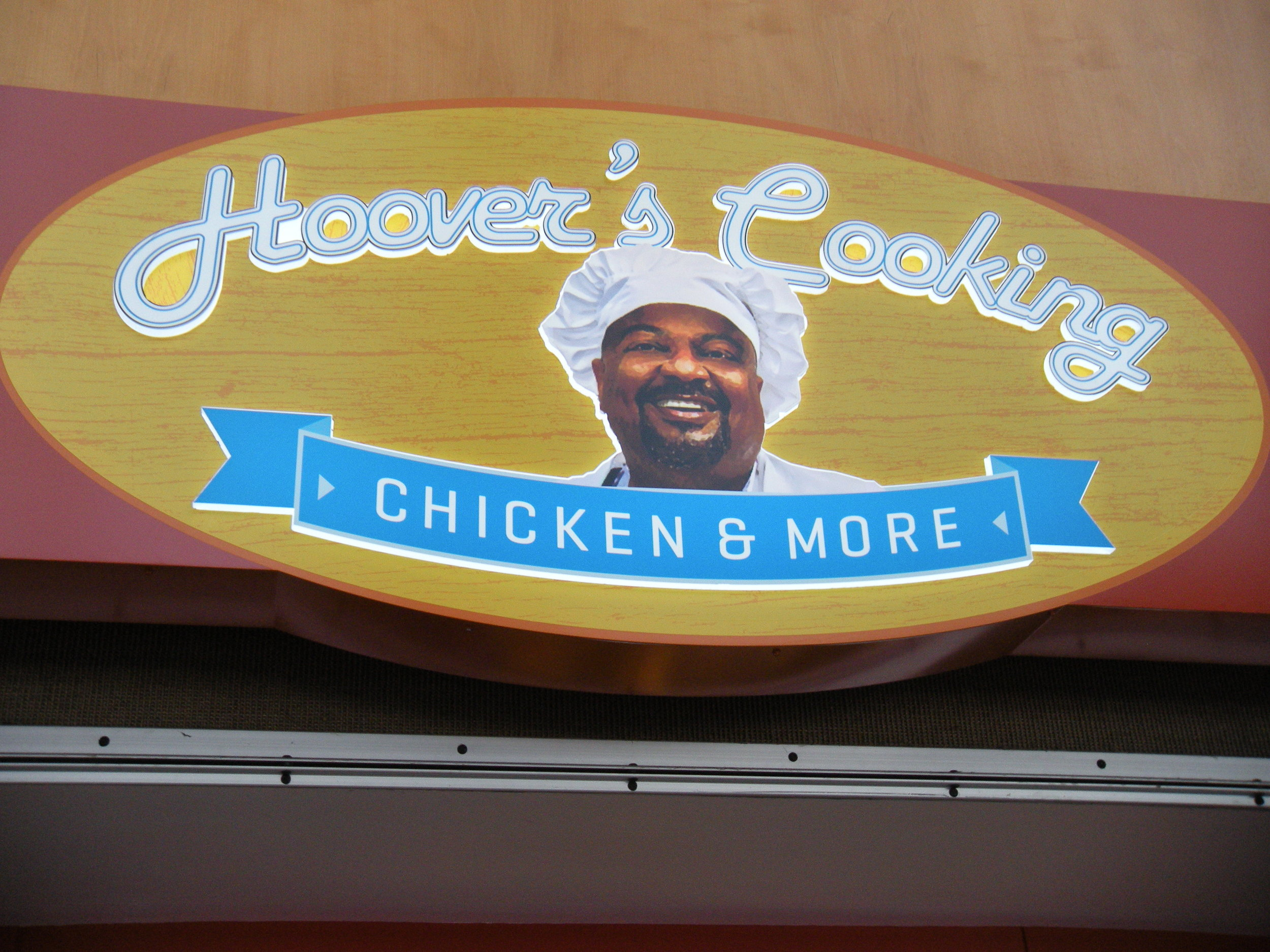 This is where we got our airport chicken. He looks happy to have fed me.