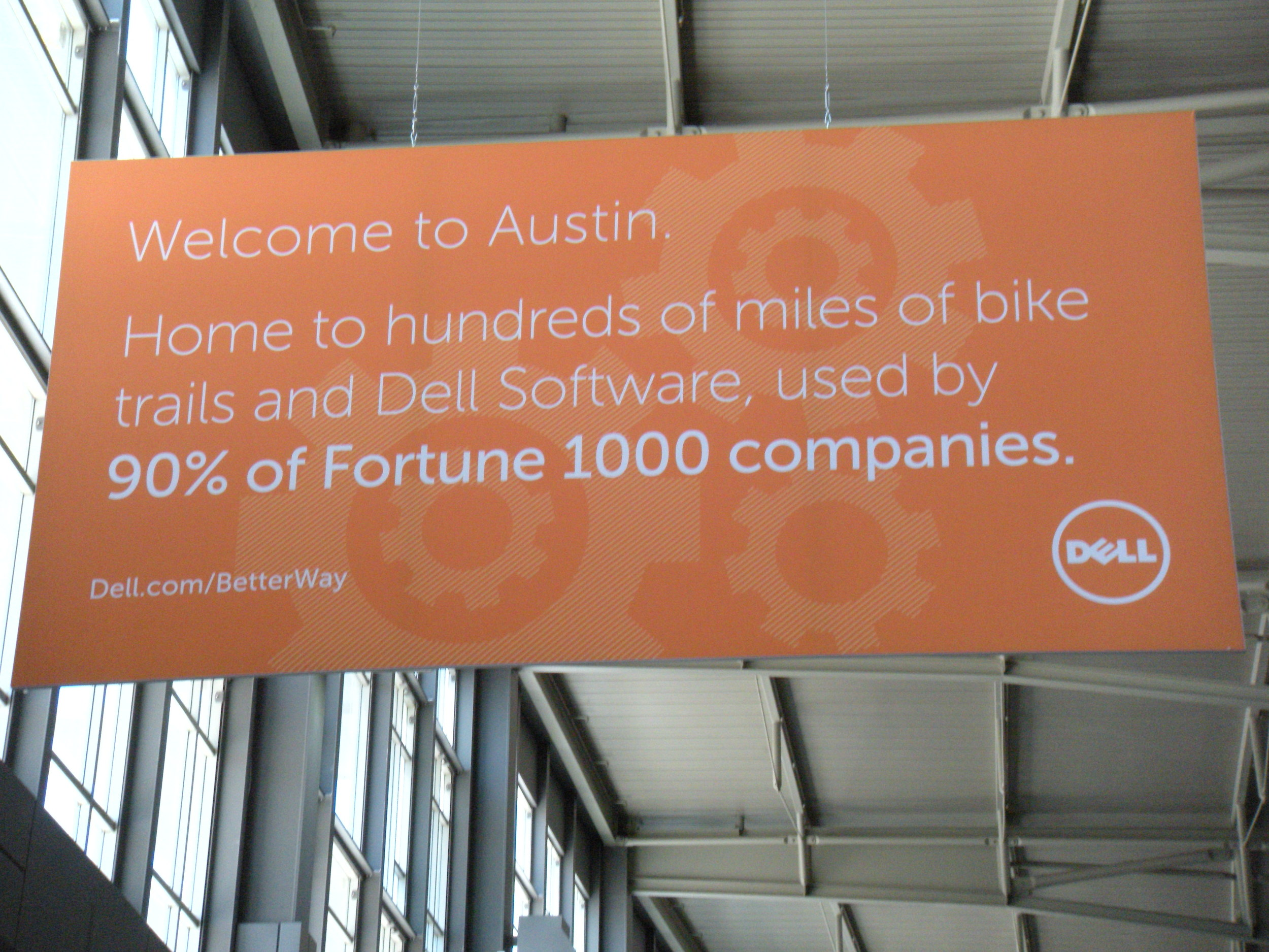 Dell is all over the place in Austin. I wonder why.