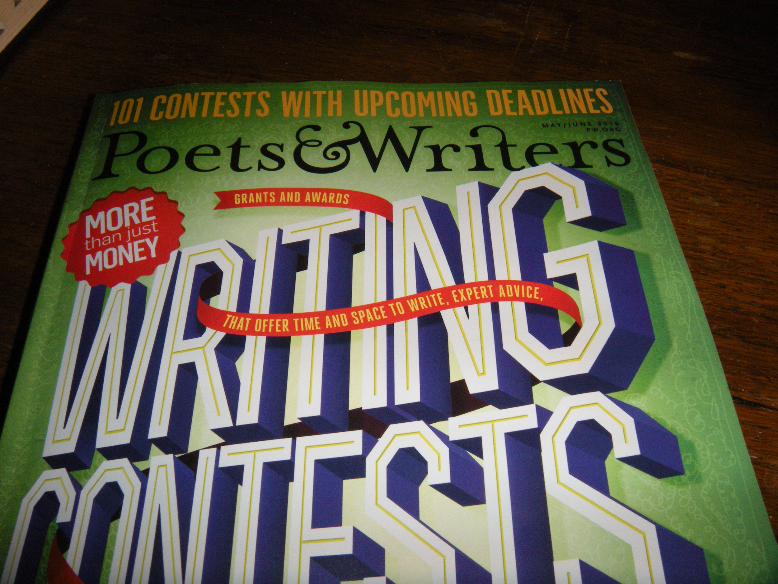 Though it's mostly advertisements about MFA programs and writers' retreats, the articles are helpful and informative.