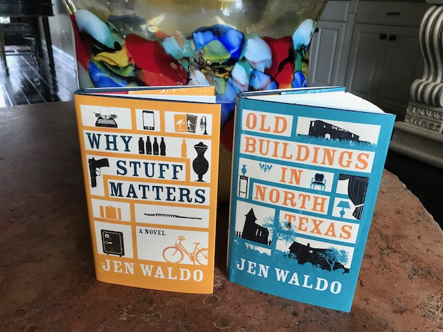As you can see from the similar cover design,  Why Stuff Matters  is a partner book to  Old Buildings in North Texas . They both take place in the same town--Caprock, which is the setting of many of my novels,and is based on my hometown, Amarillo, Texas.