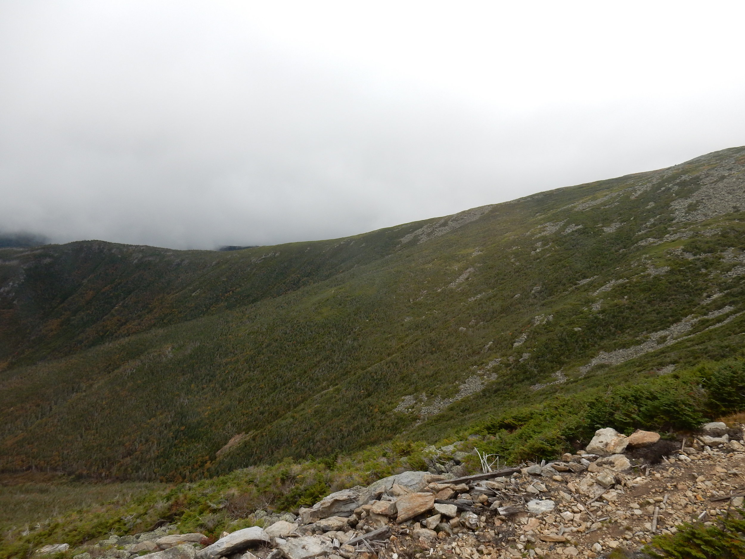 From the top of Mount Washington. The mountain is in the clouds three hundred days a year. If you catch it on a clear day you can see a hundred miles in every direction.
