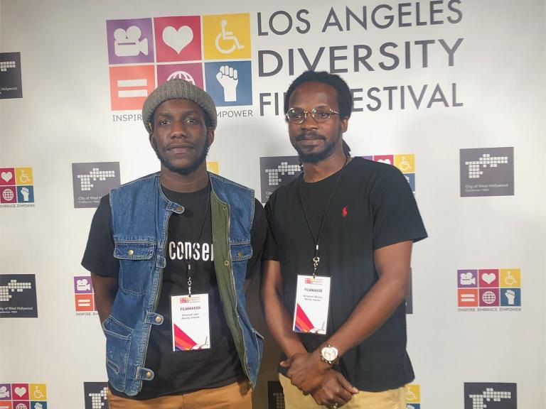 Khamall Jahi and Benjamin Michel. Photo by Jahi