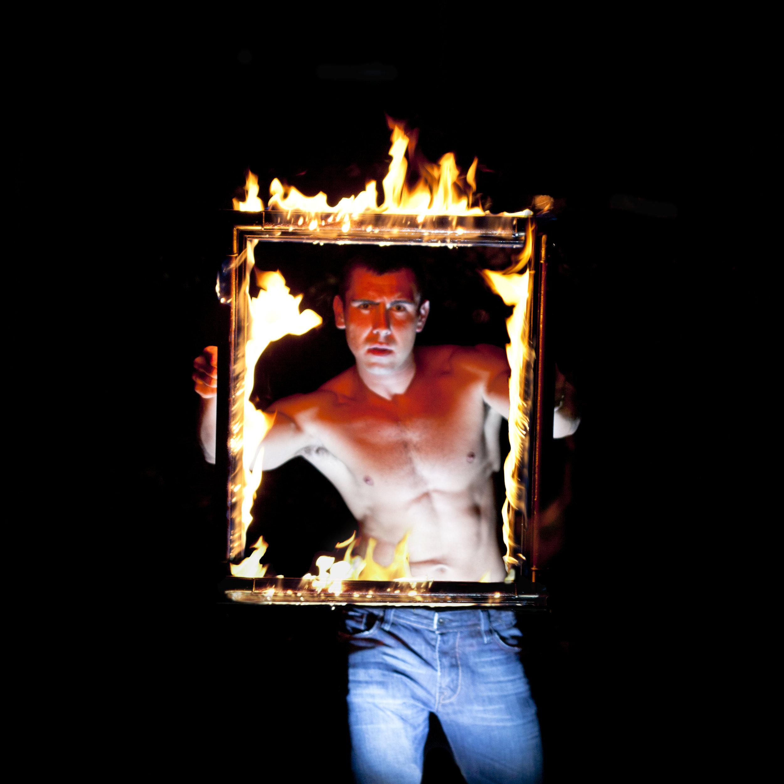 Crazy Phil's fire show!