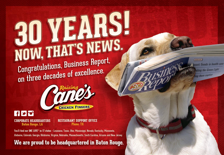 "Raising Cane's ""Congratulations"" ad  created for Diane Allen and Associates"