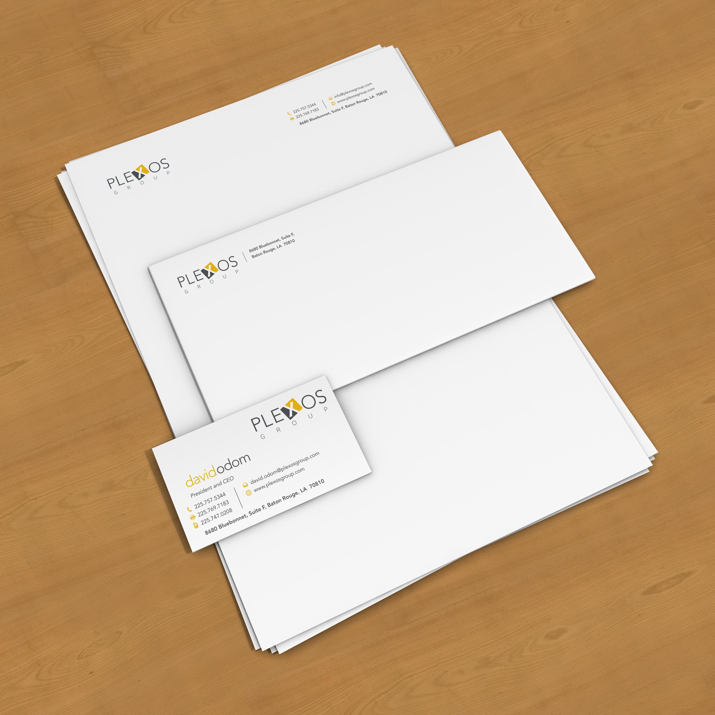 Stationery Design for Plexos Group