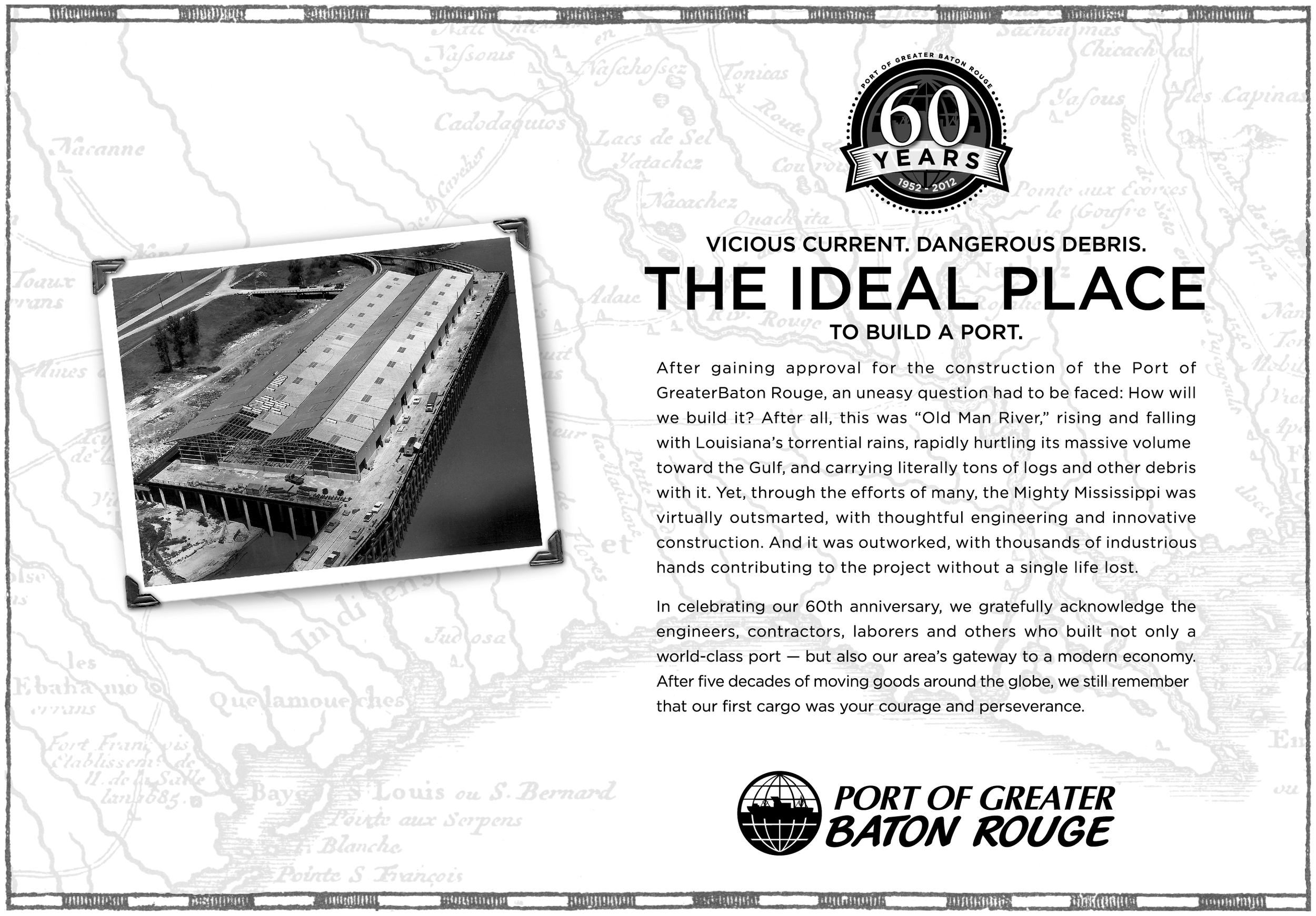 Port of Greater Baton Rouge print ad  created for Diane Allen and Associates