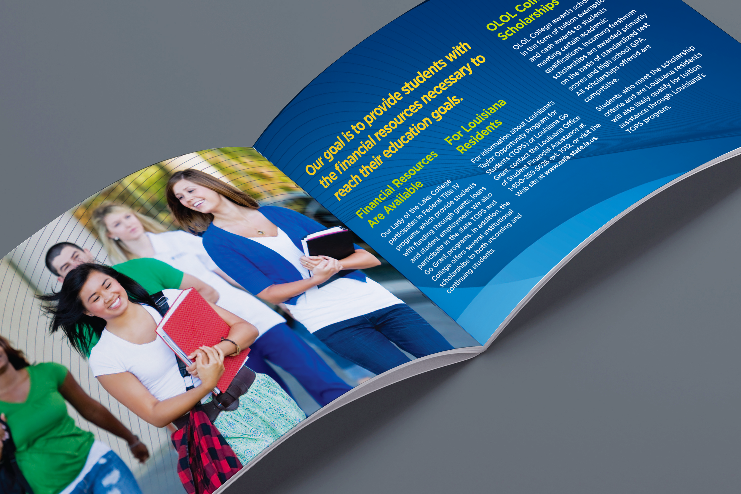 OLOL CollegeScholarship Brochure  created for Diane Allen and Associates