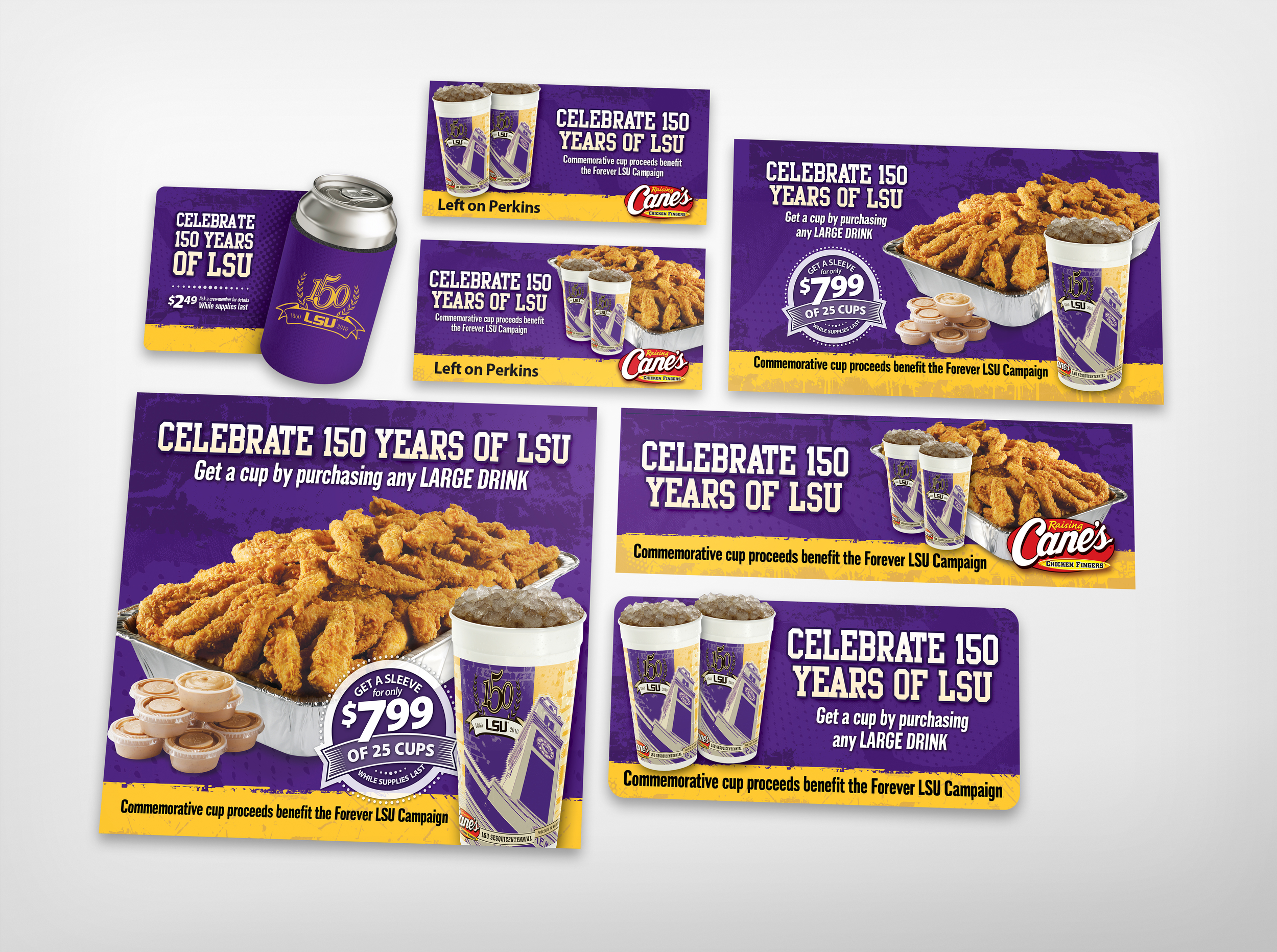 LSU 150 Anniversary promotion  created for Diane Allen and Associates
