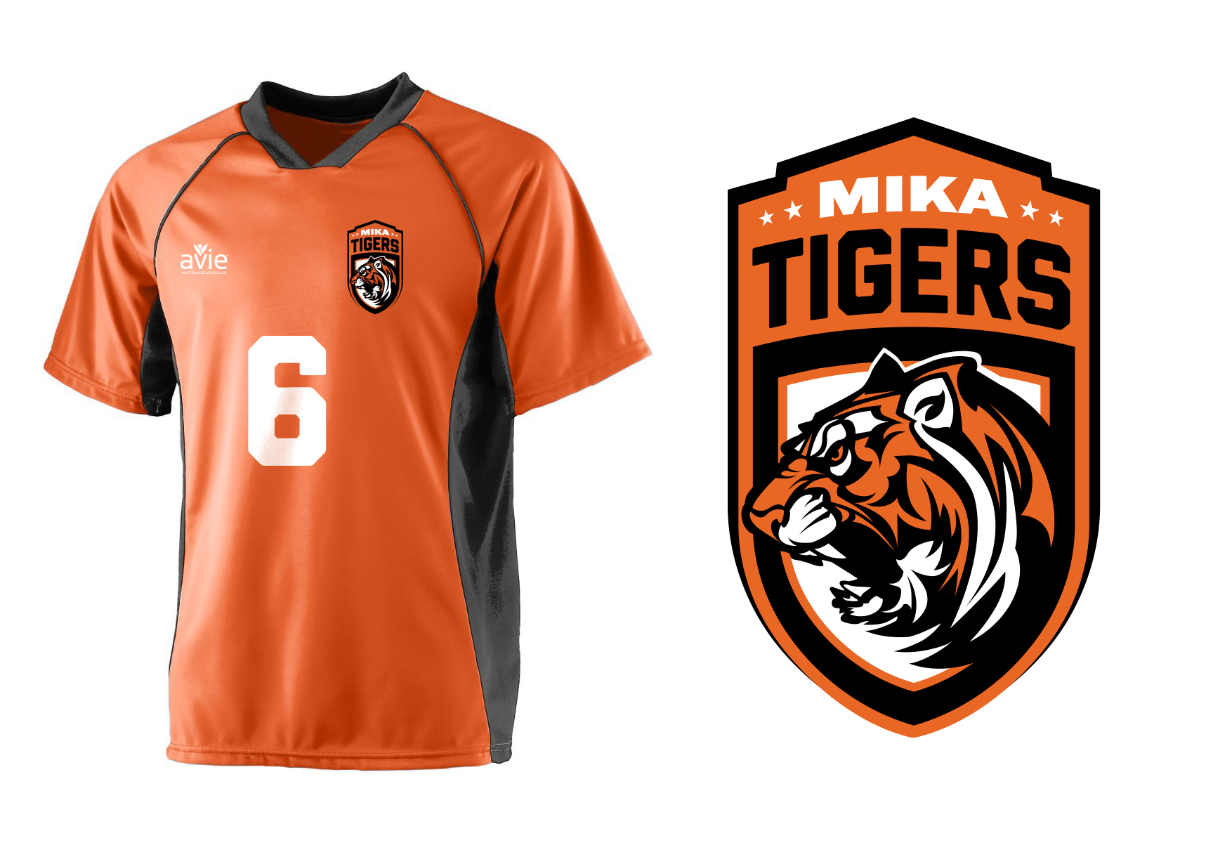 Mika Tigers Soccer Jersey created for Avie Nutraceuticals