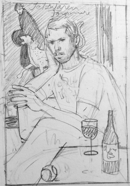 Initial sketch of Seb