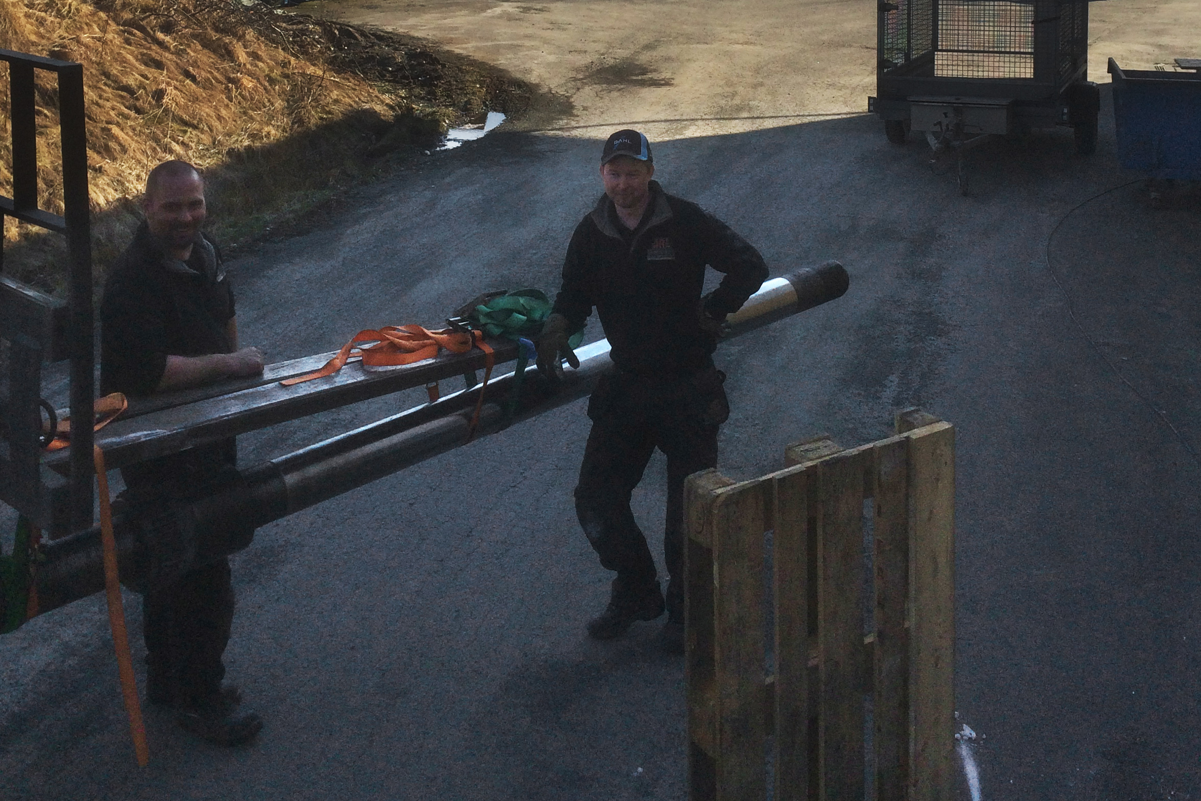 Demontering 160mm-axel på 800kg