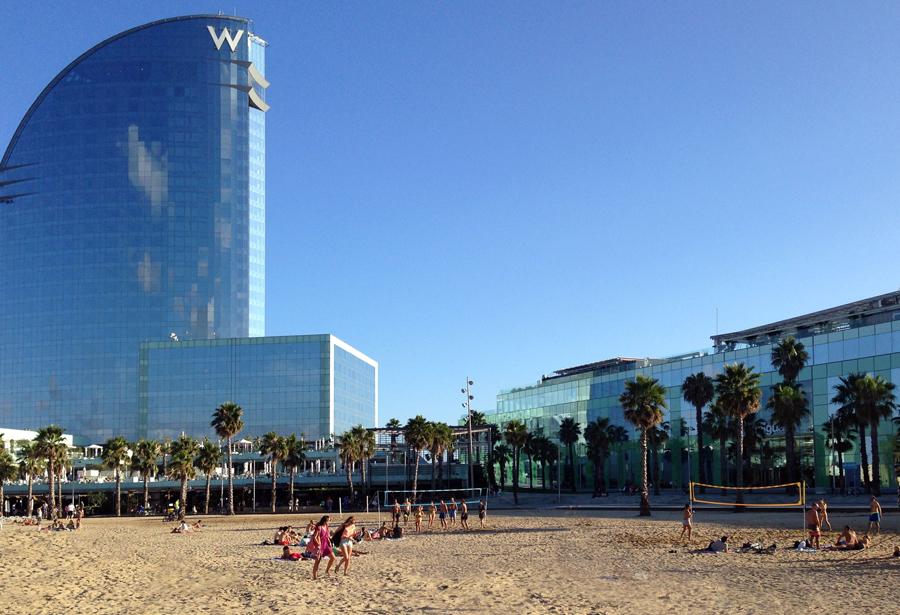 La playa, Barcelona