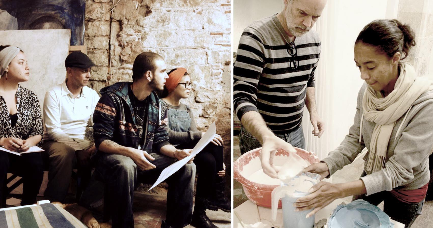 Måleri, skulptur och andra konstformer.