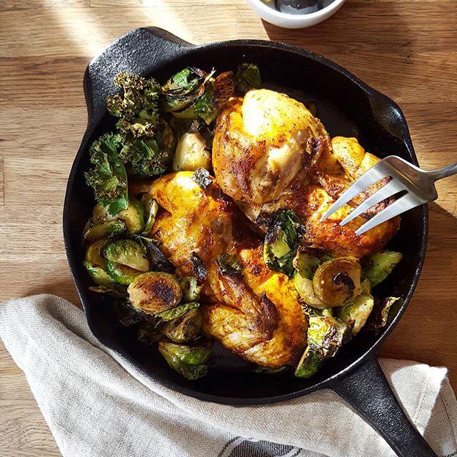 Chicken halves for the win. @telasmarket you make dinner at home so lovely  #chicken #bakedchicken #brusselsprouts #dinnertime #sundaysupper #feast #protein #eatcleanstaylean #healthyeating #hautecuisines  #huffposttaste #dinner #telasmarket #phillyeats #phillyfood #phillyfoodie #eeeeeats #goodeats #yahoofood #feedfeed #eatlocal #f52grams #instafood #foodstagram #yahoofood #igersfood #onthetable #eattheworld