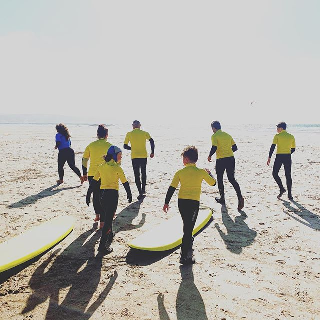 Mondays sunset surf lesson! . . . #hayle #surfinglessons #visitcornwall #learntosurf #stivesbay #cornwall #surfing #surfer #surfclub #holiday #outdoors #living #cornish #sunset #beach #waves #wavecheck #surfschool