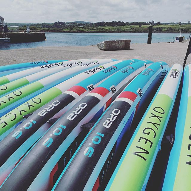 Breaking News! The @hathapaddleboards fleet is ready for #summer with the latest arrival in #sup technology the ORB 10.6 come down and check it out - new school location on North Quay next to the #harbour office #hayle #friendly #relaxed #atmosphere #competitive #pricing & #local #memberships available for affordable access to paddle boarding lessons and hire on your door step come down and see what we are about 🤙😊