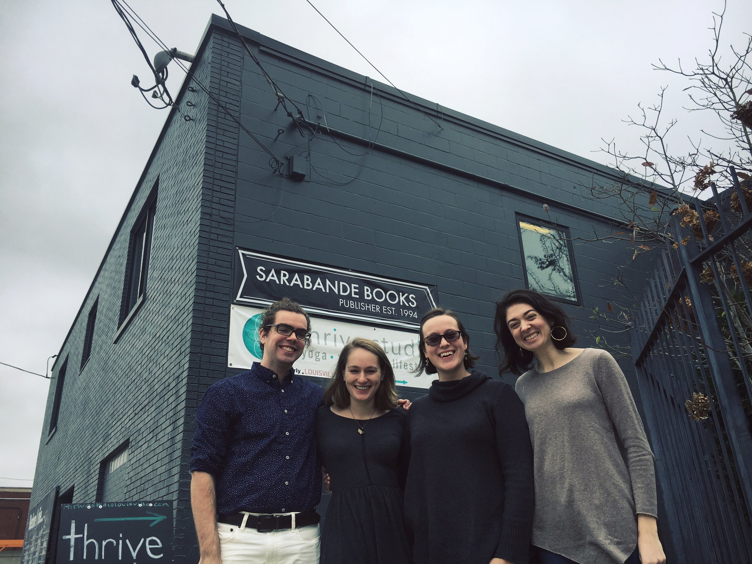 Spring 2017 interns, Justin, Maggie, Lauren, and Emily