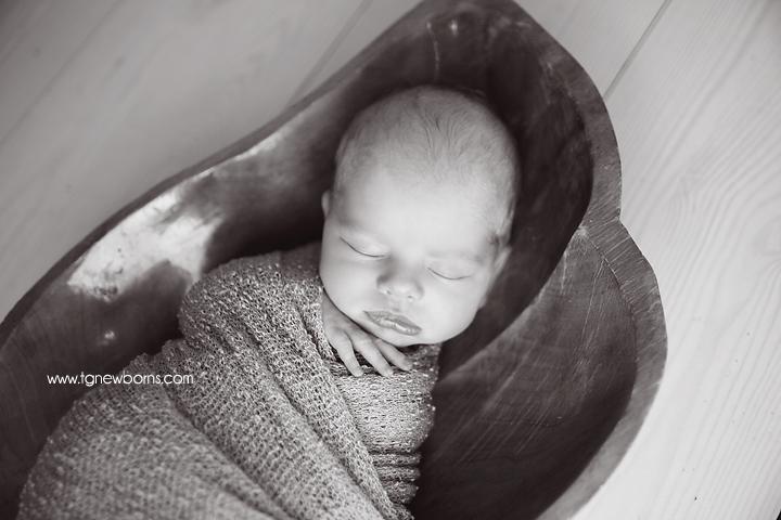 black and white newborn