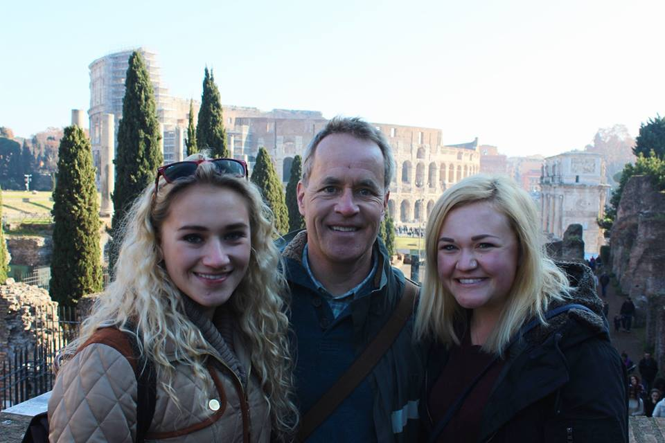 My wonderful family at the Foro Romano