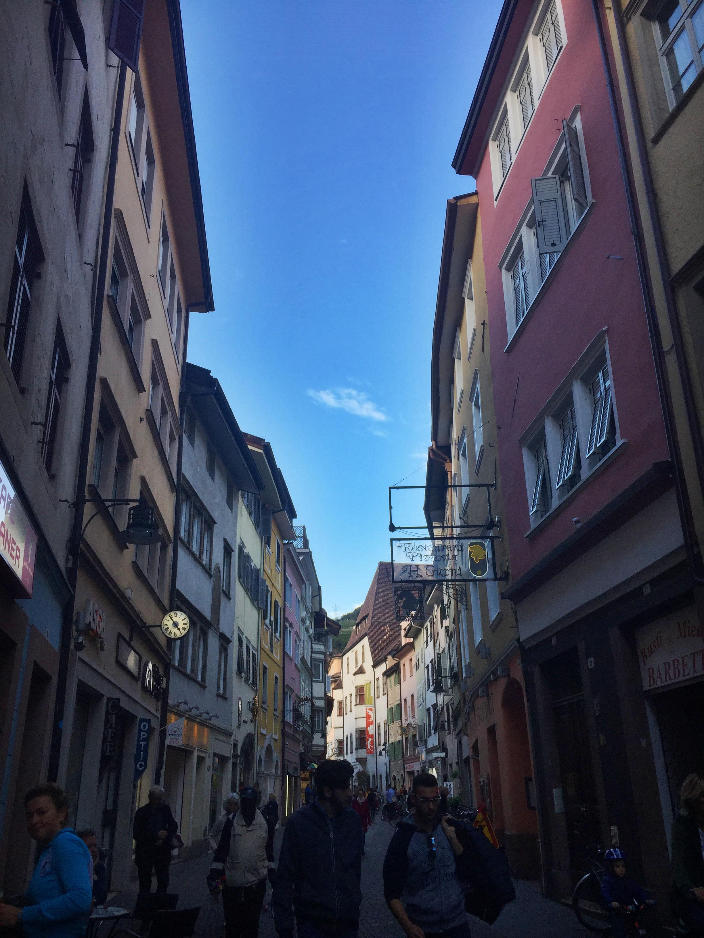 Street view in Bolzano/Bozen.