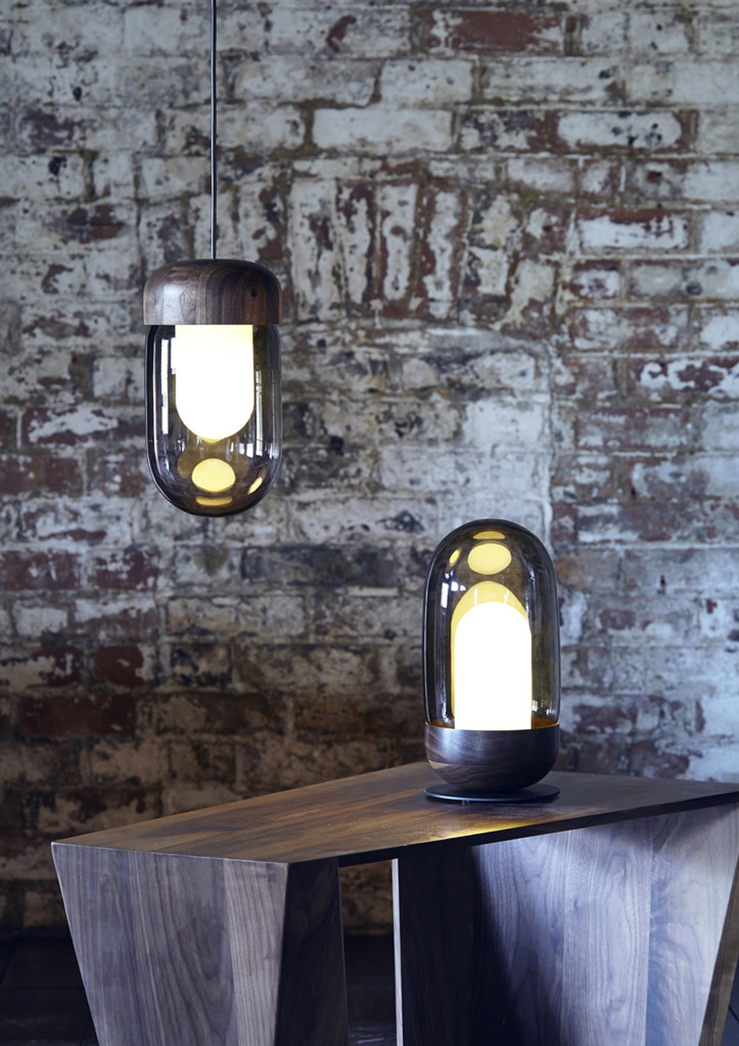 Magnus Pettersen's 'Bell' lights for Heal's, which come in pendant and table forms