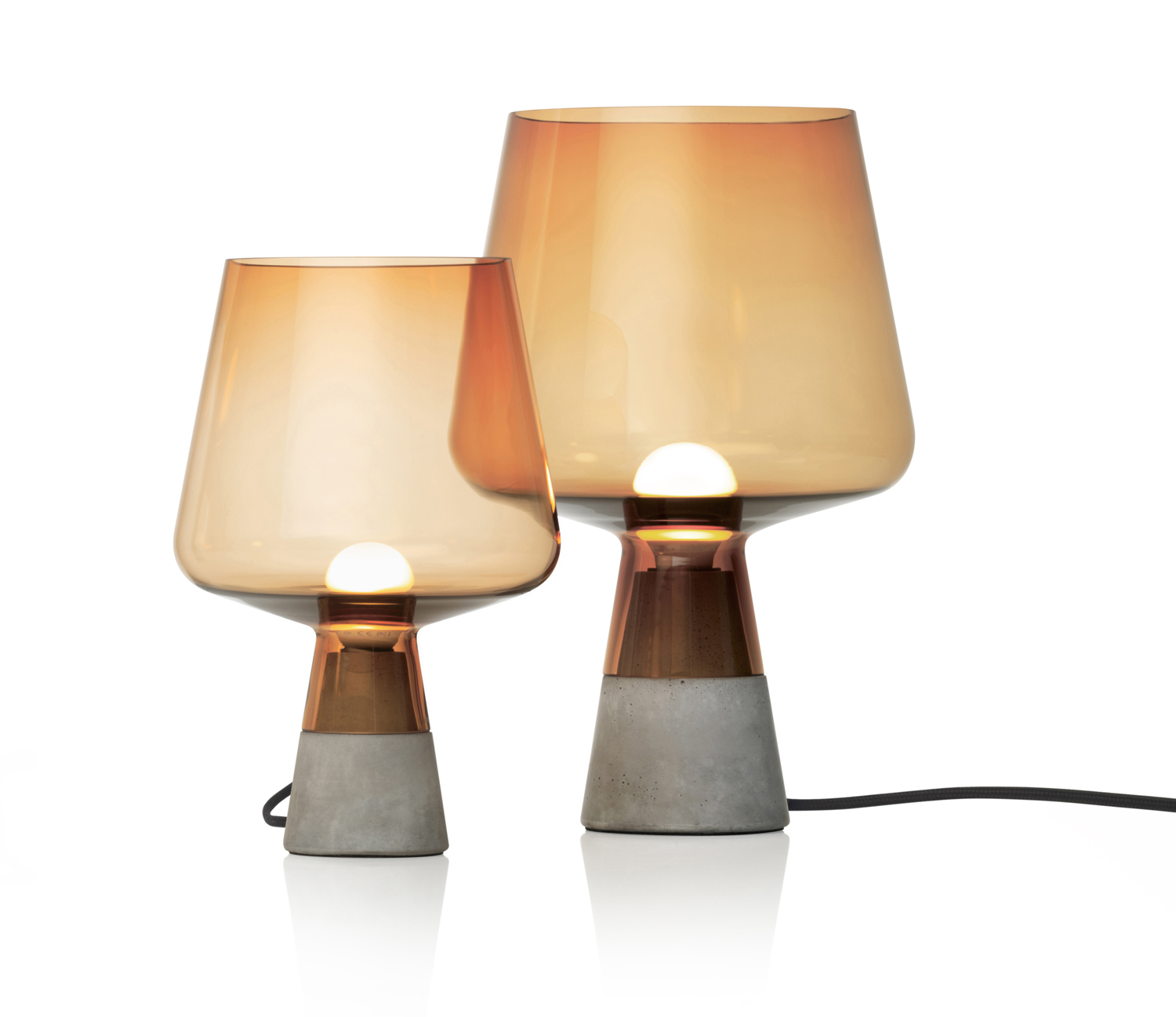 The sinuous 'Leimu' lamps for Iittala