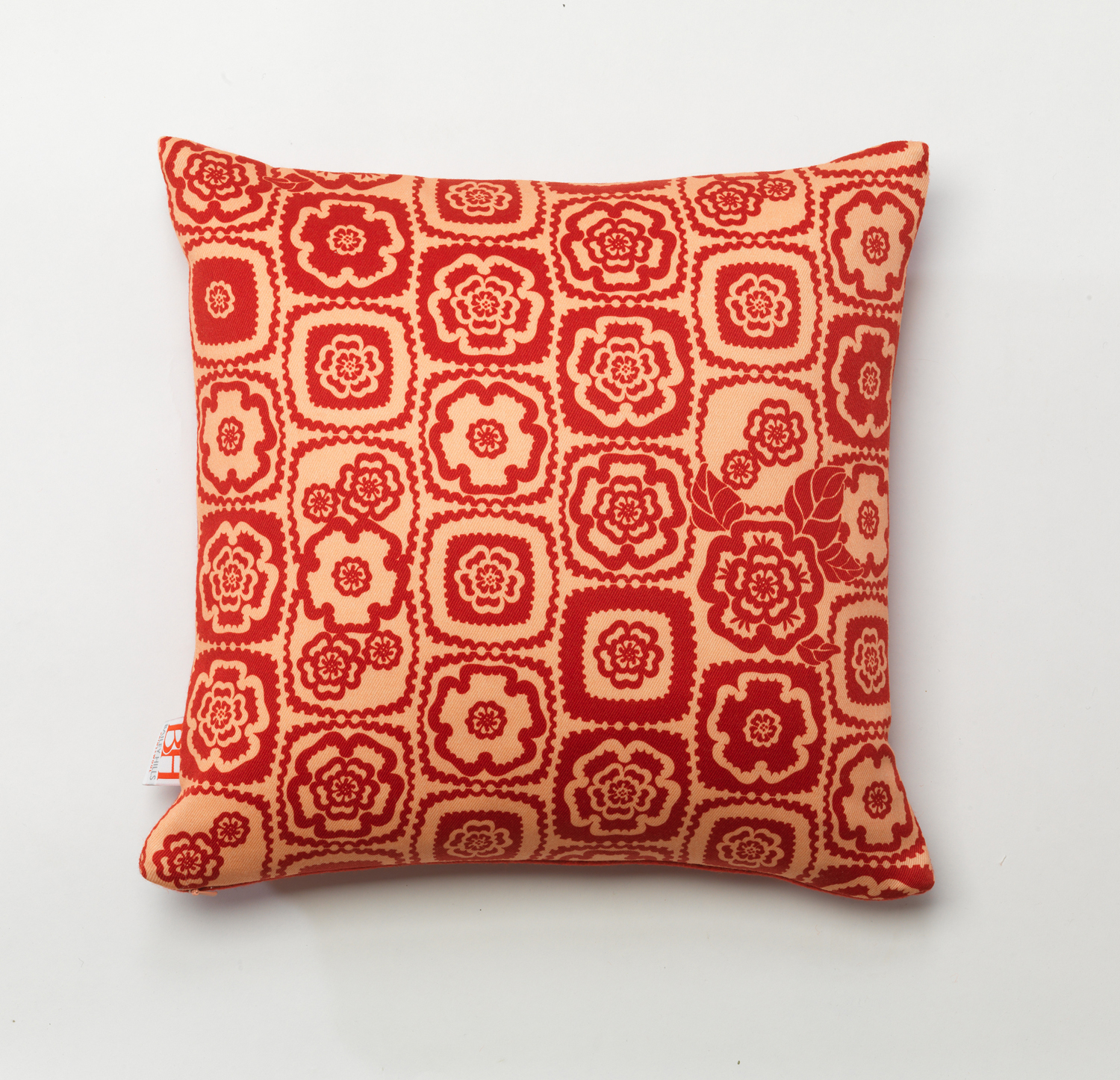 'Rosette' printed wool twill cushion hi res from 'Signature collection.jpg