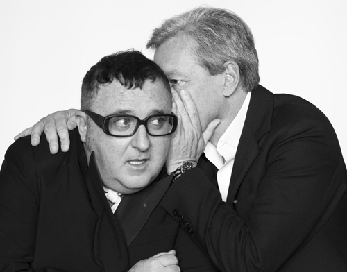 ABOVE FROM LEFT:  Alber Elbaz and Frédéric Malle