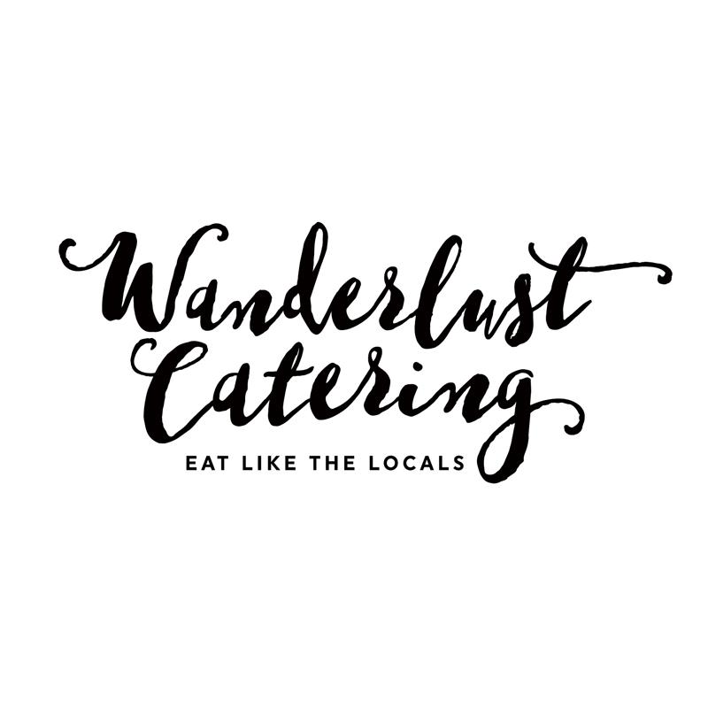 Wanderlust Catering branding