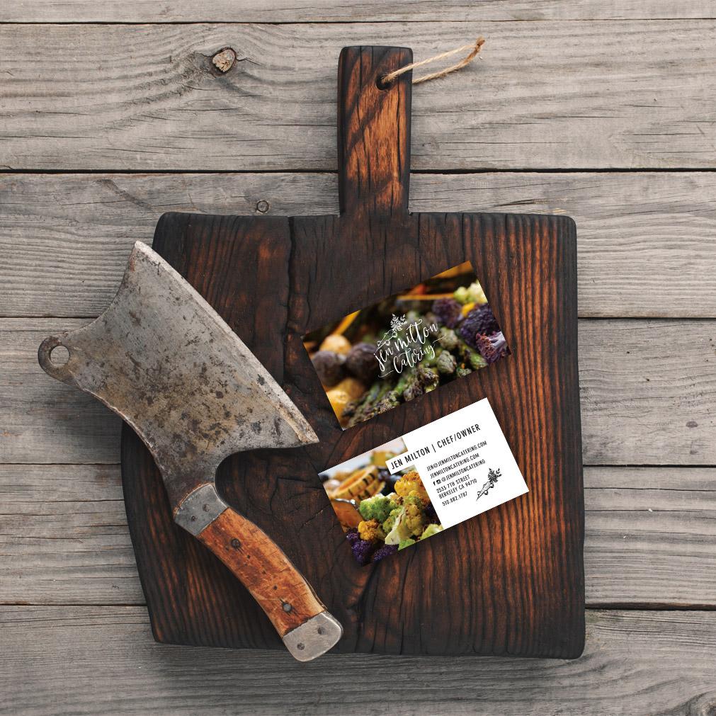 Jen Milton Catering business card design