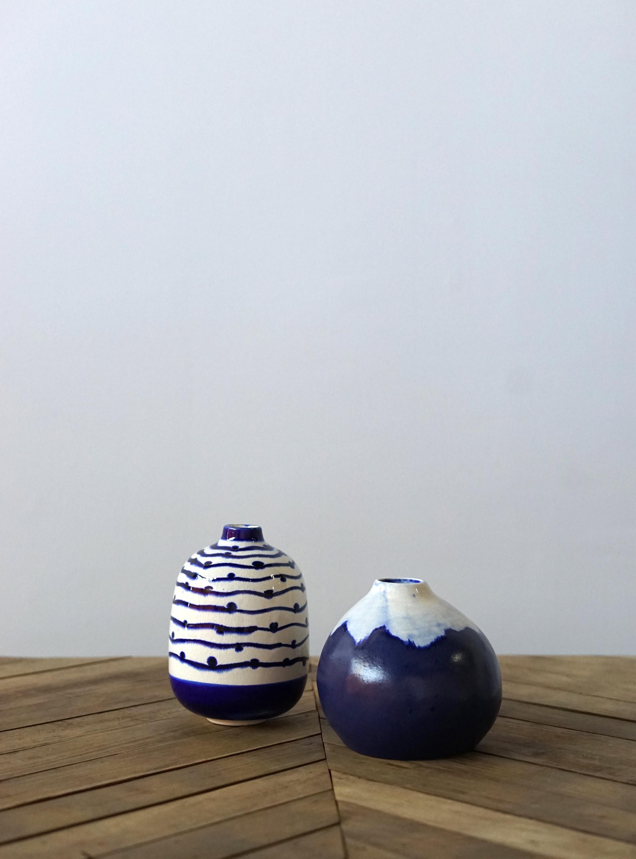 Blue detailed Vase