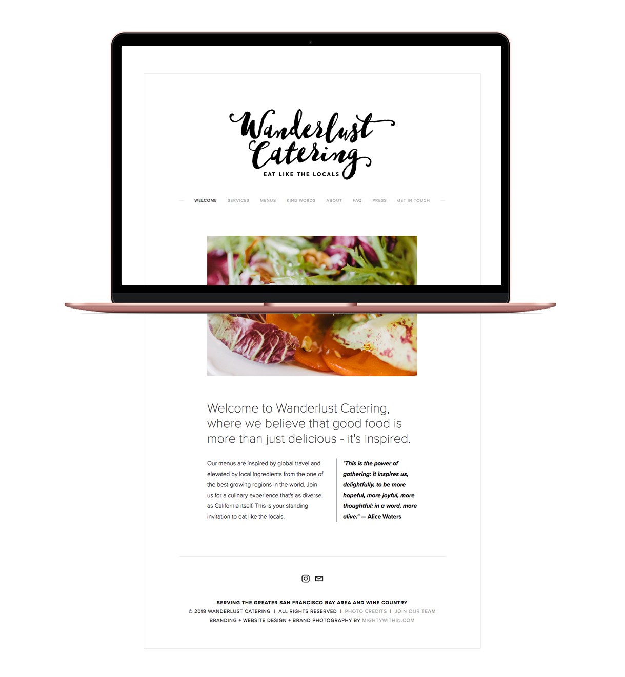 Wanderlust Catering Squarespace Website