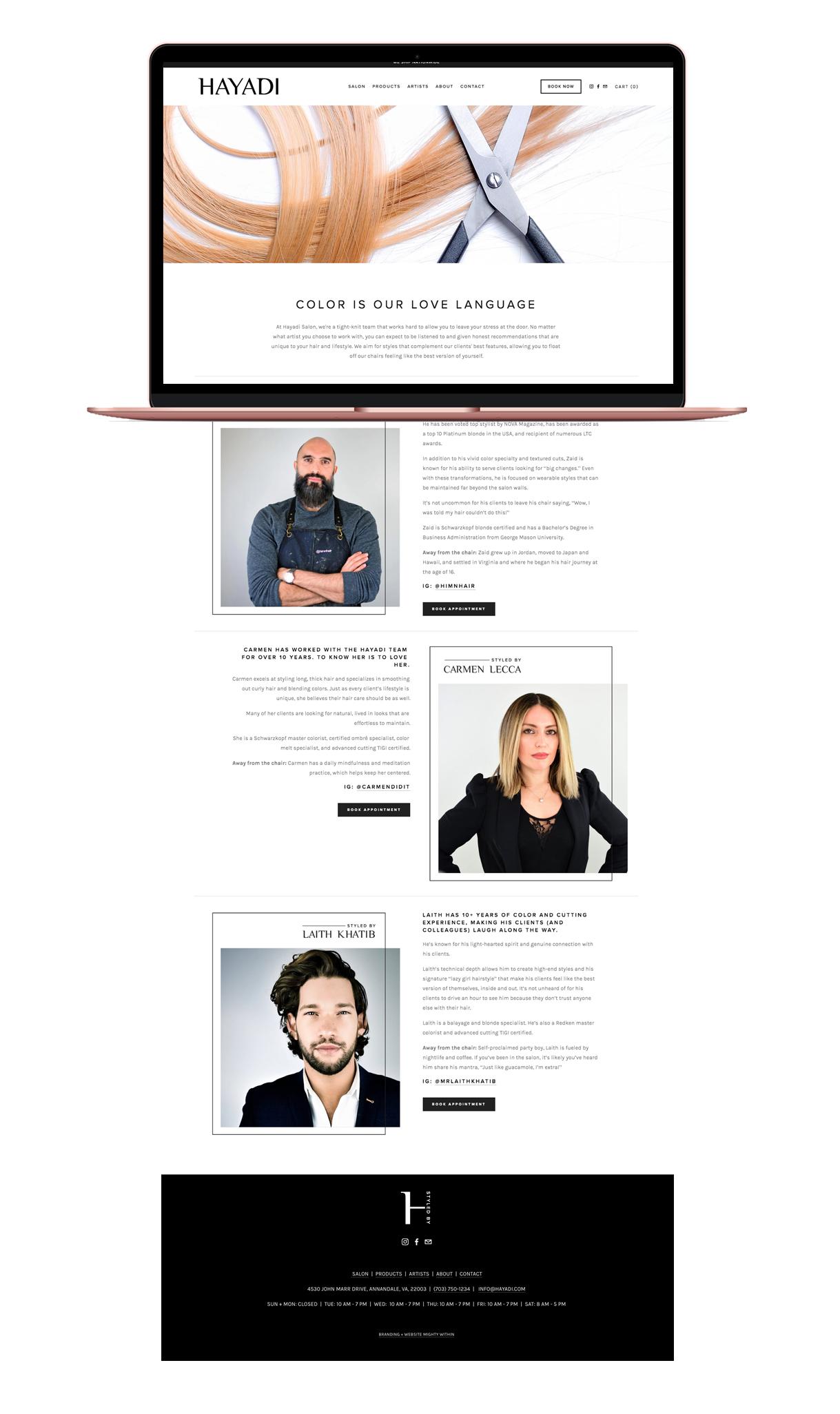 Hayadi Squarespace Website Design