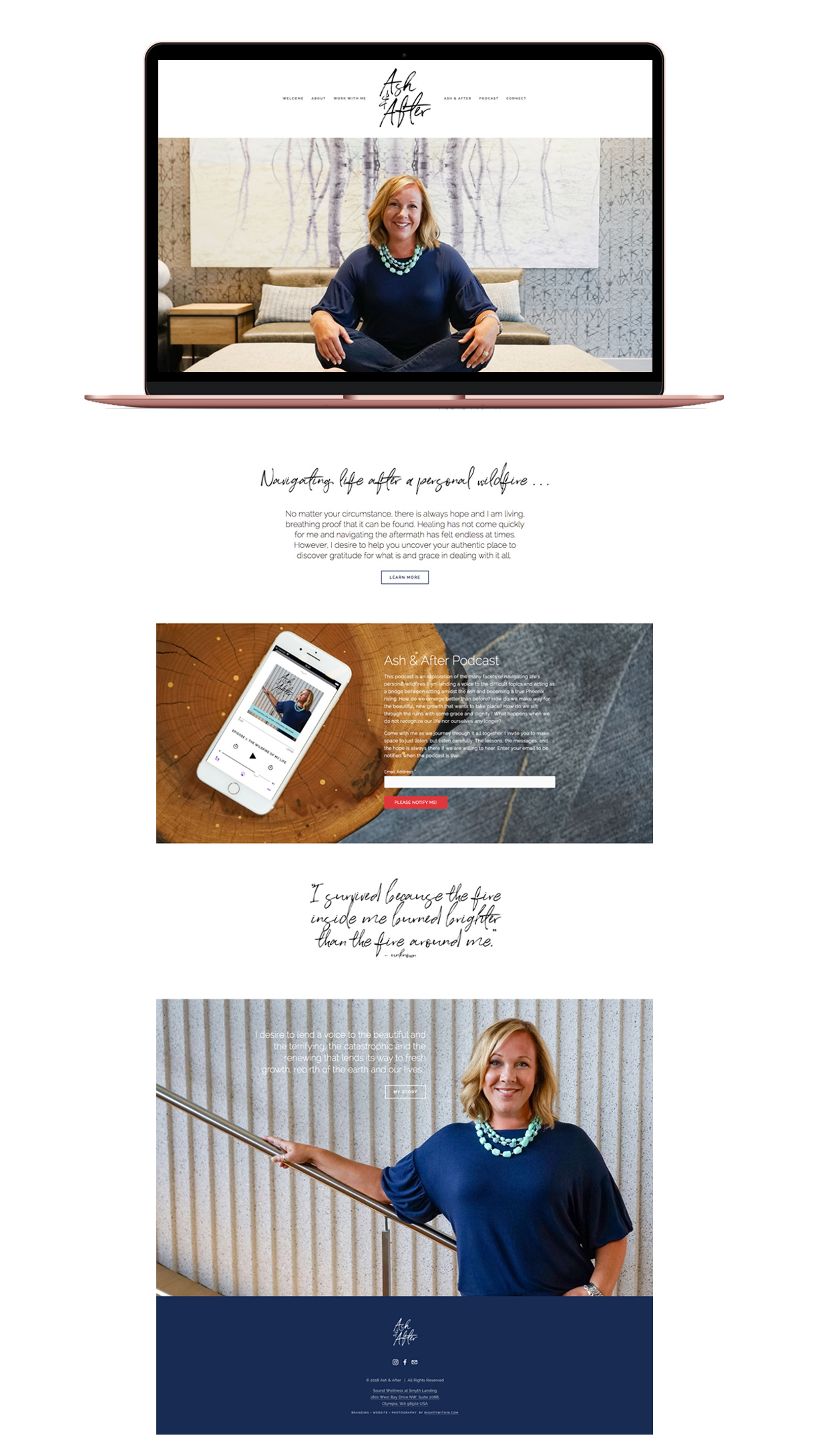 Ash and After Squarespace Website Design