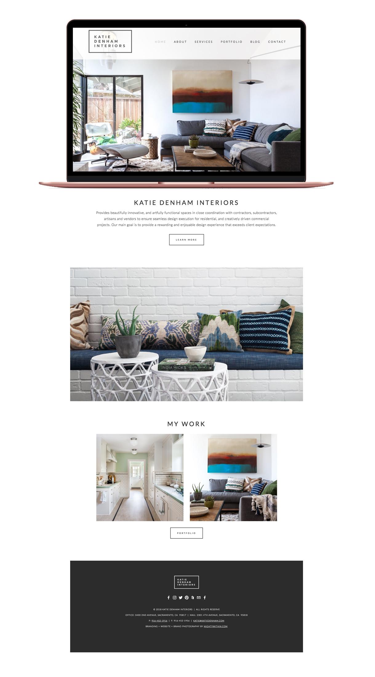 Katie Denham Interiors Squarespace Website Design