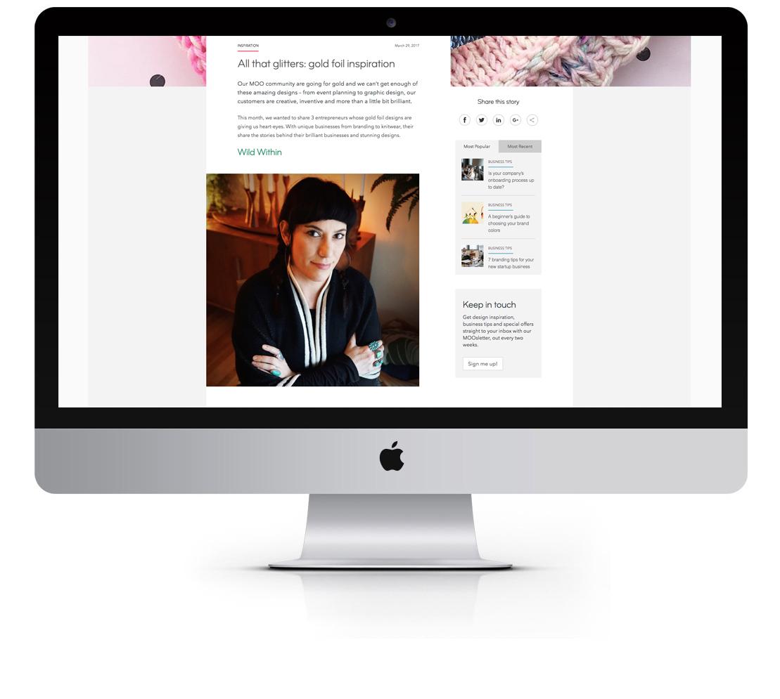 moo.com, Steph Zangeneh Azam
