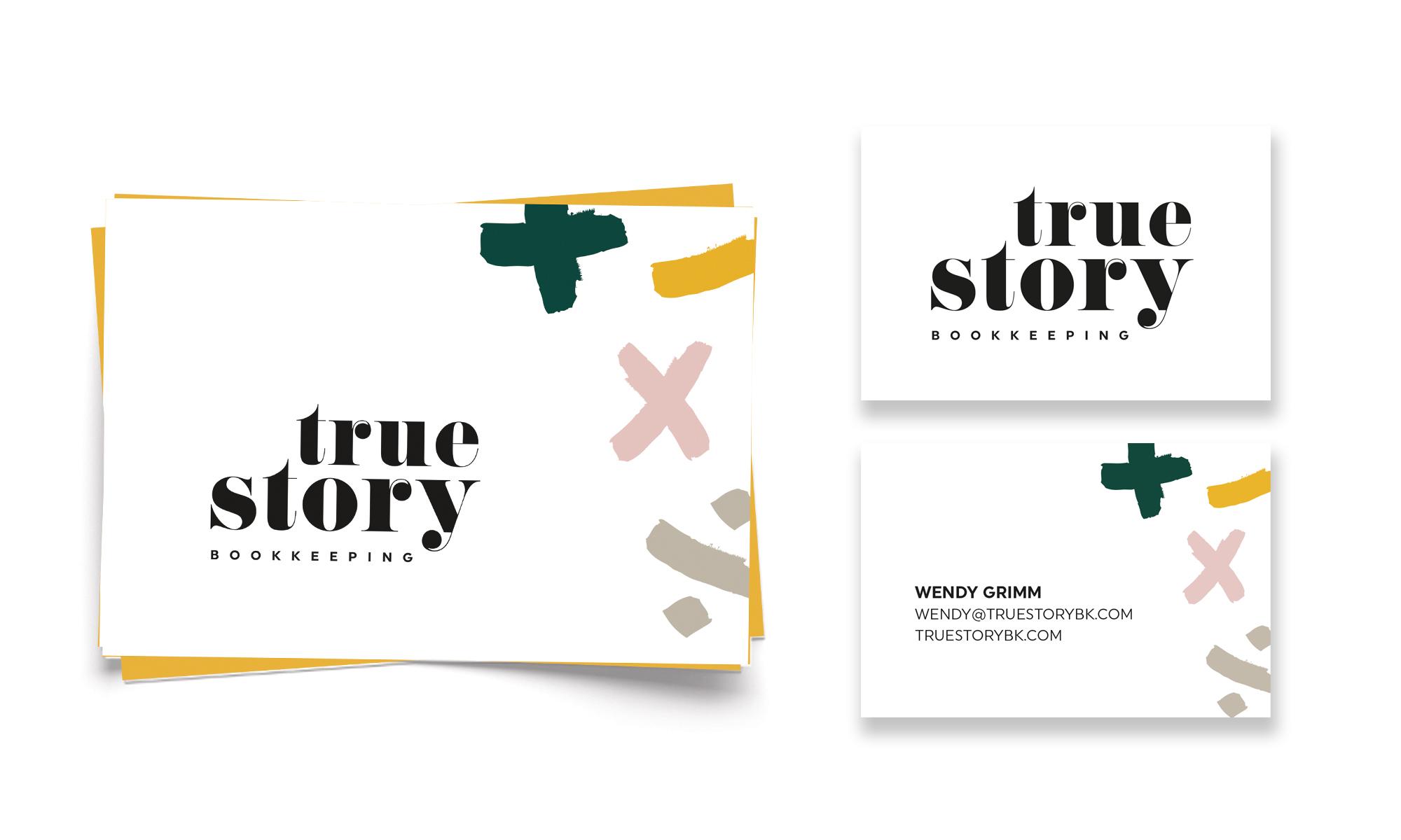 Brand Design, True Story Bookkeeping