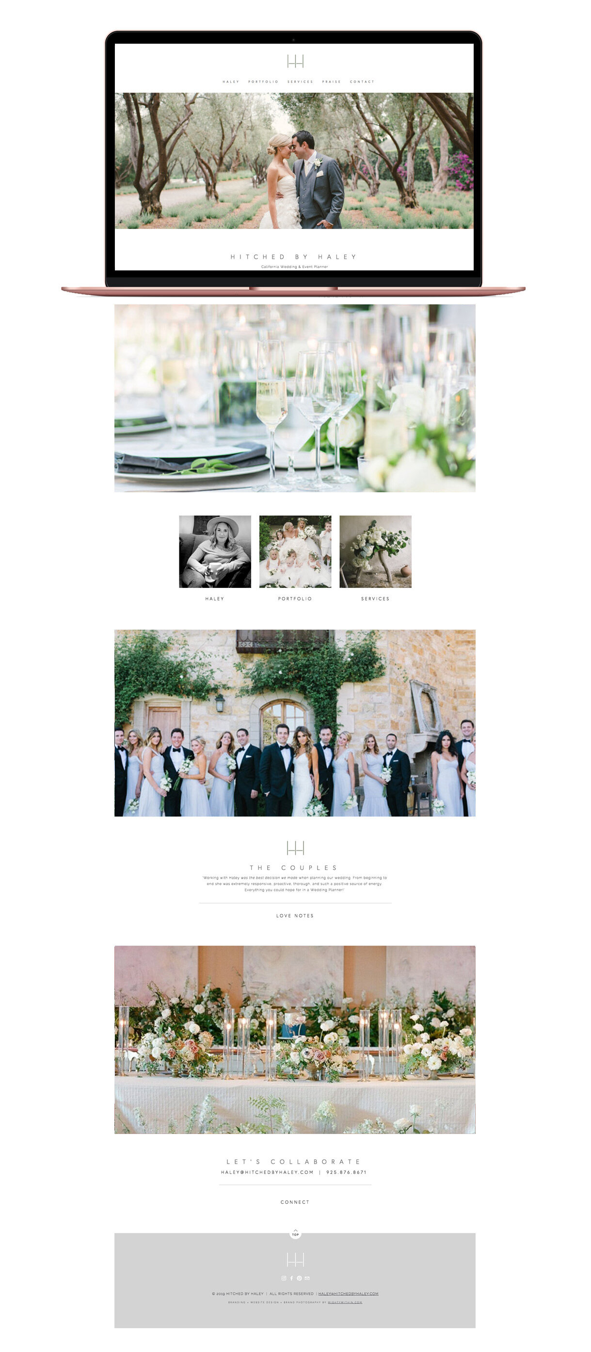 Hitched By Haley Squarespace Website Design