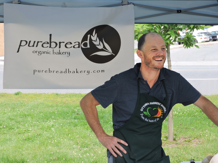 Purebread baker Andy Lofthouse at the Westboro Farmers' Market.