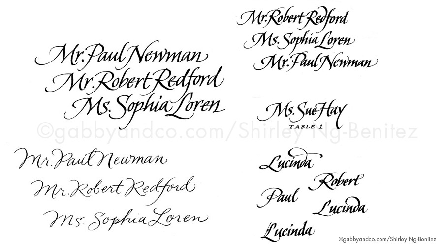 Calligraphic Lettering Styles