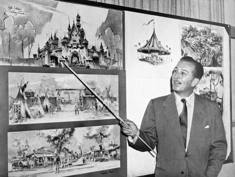 Walt Disney planning Disneyland