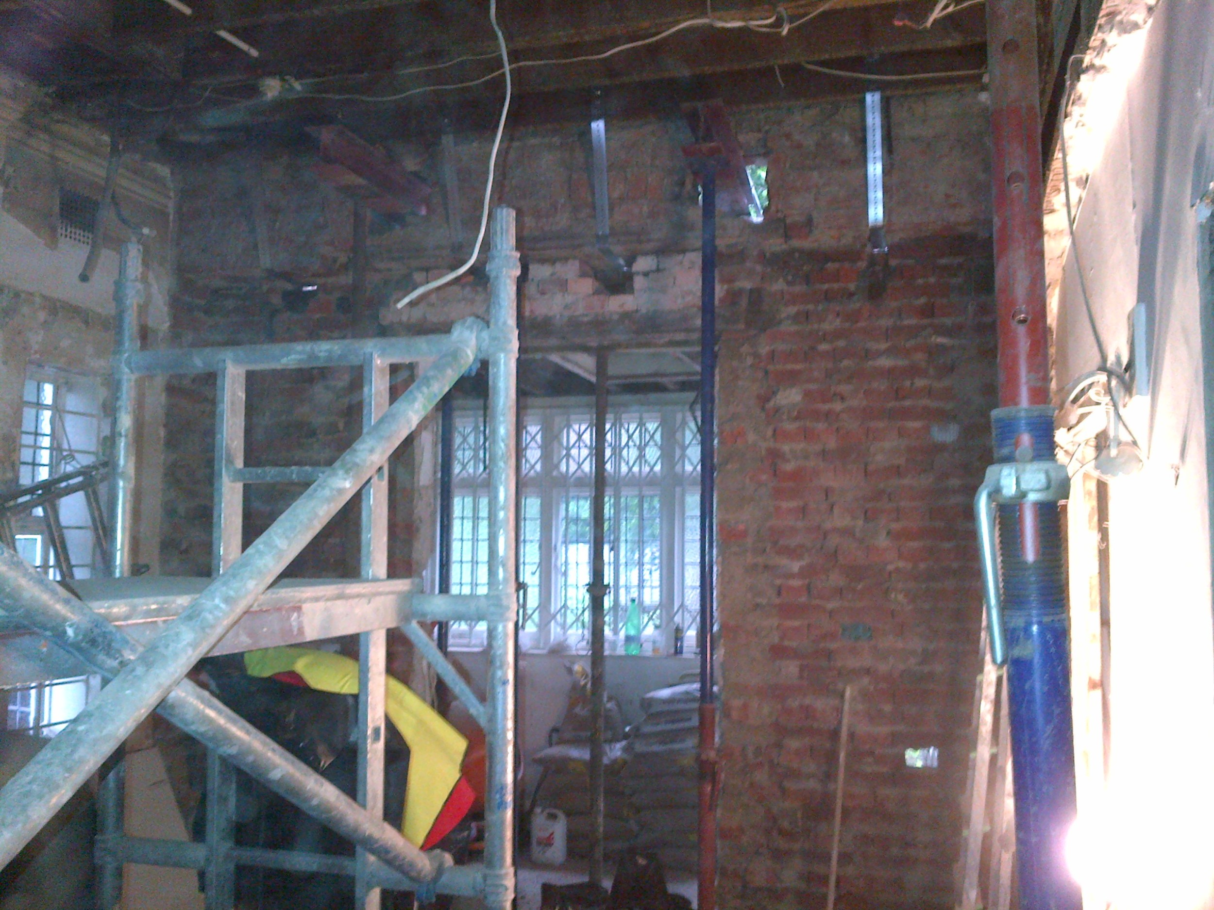 Frognal - Step 3 - External wall to be demolished to open up further onto extension.jpg