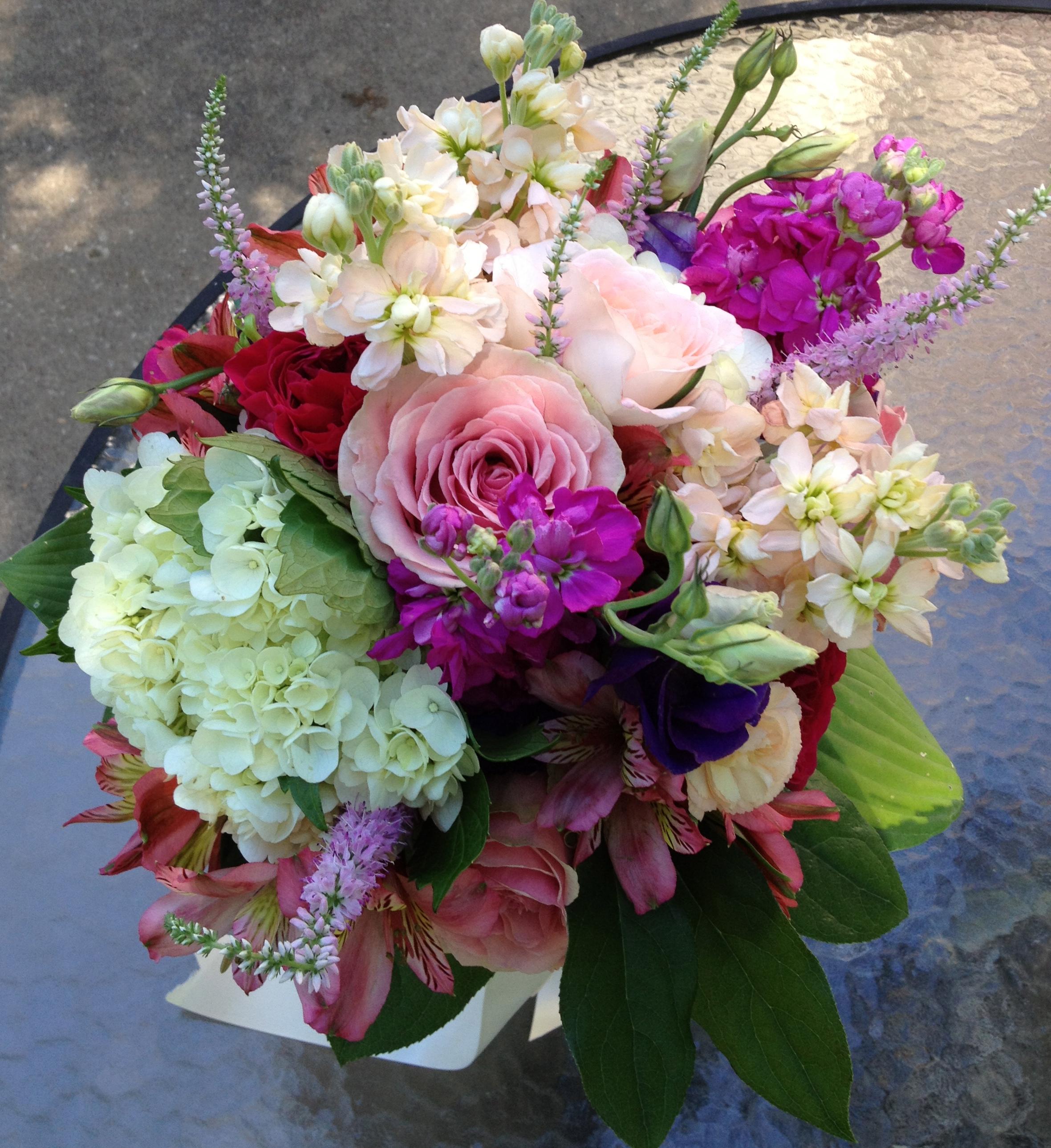 Joan's wedding bouquet. Photo by Belle Fleur.