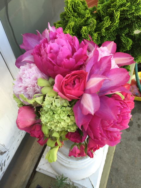 Clematis, peonies, hydrangea, orchids and roses