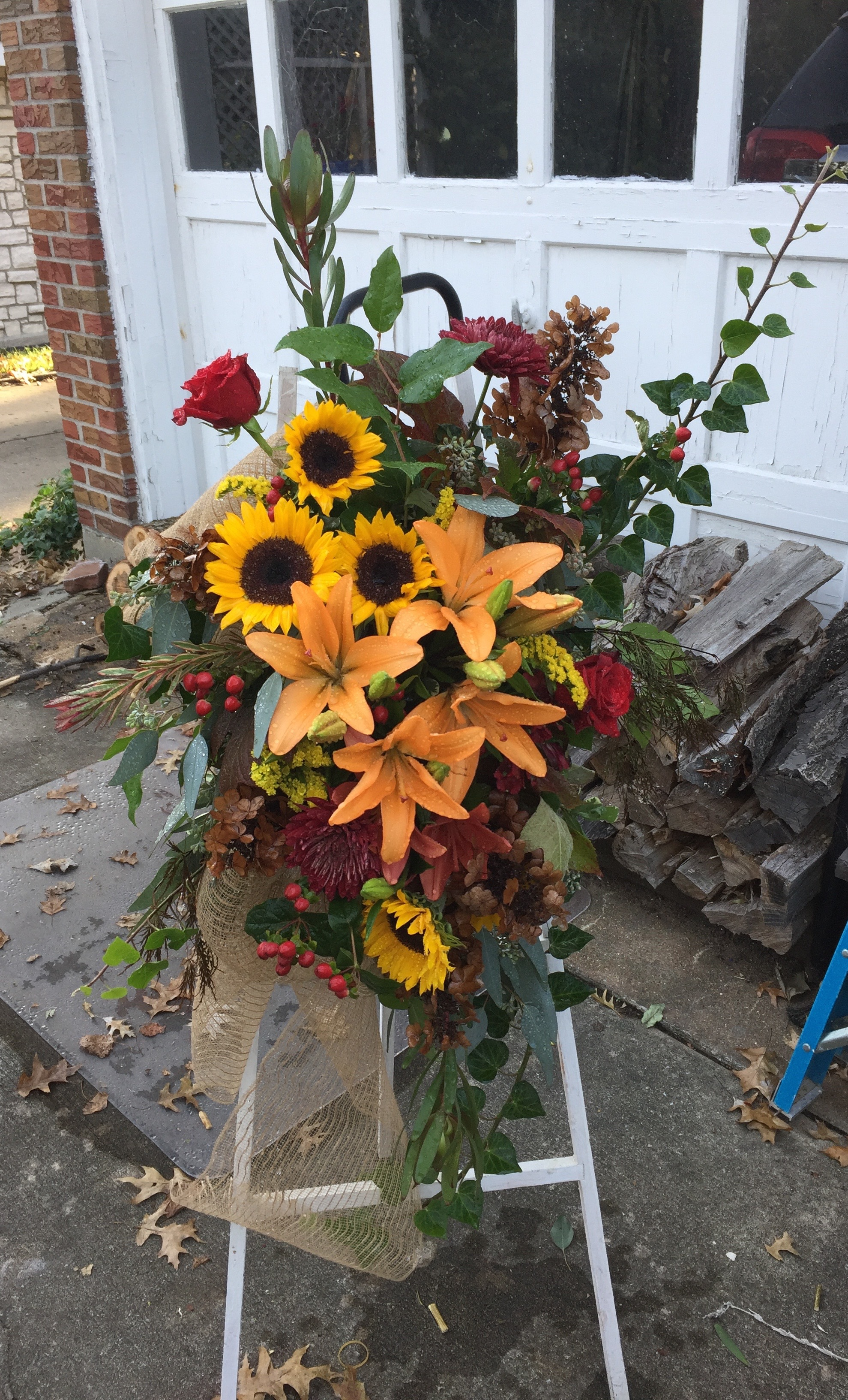 Fall-toned Easel Arrangement