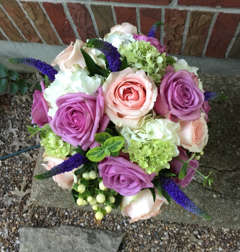 Roses, Veronica, Hydrangea and Hypericum